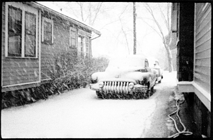 [ 1950s BUICK IN SNOW ]